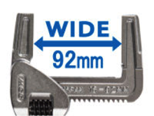 Extra Wide Opening Jaw: In Order To Cover Any Common Size Of Thread Fitting  In Daily Plumbing Work, This New Product Was Given The Extra Wide Opening  Jaw To ...